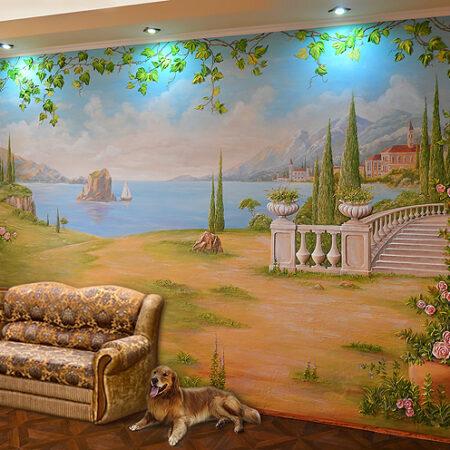 Объемная роспись стен Италия, Капри