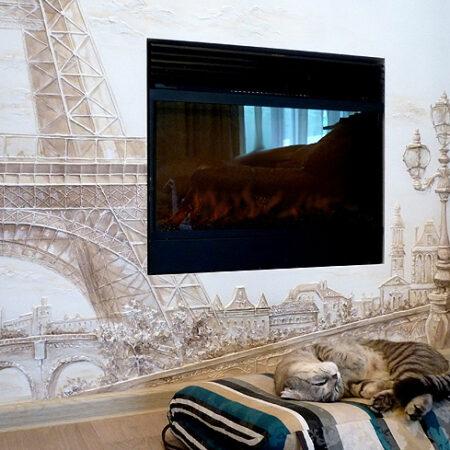 Барельеф на камине Франция, Эйфелева башня