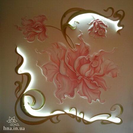 Декоративное панно цветы розы