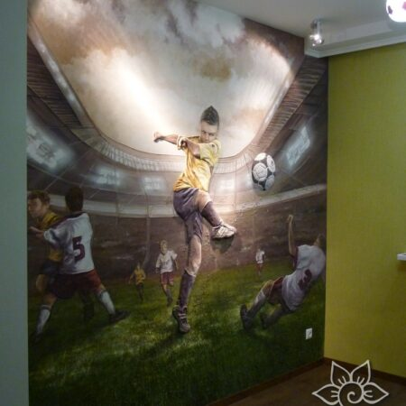 Барельеф футболист
