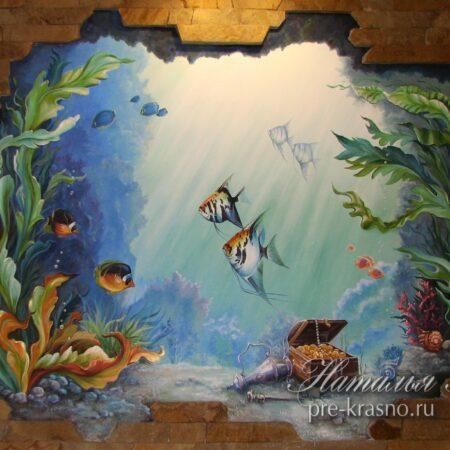 Барельеф Рыбки под водой