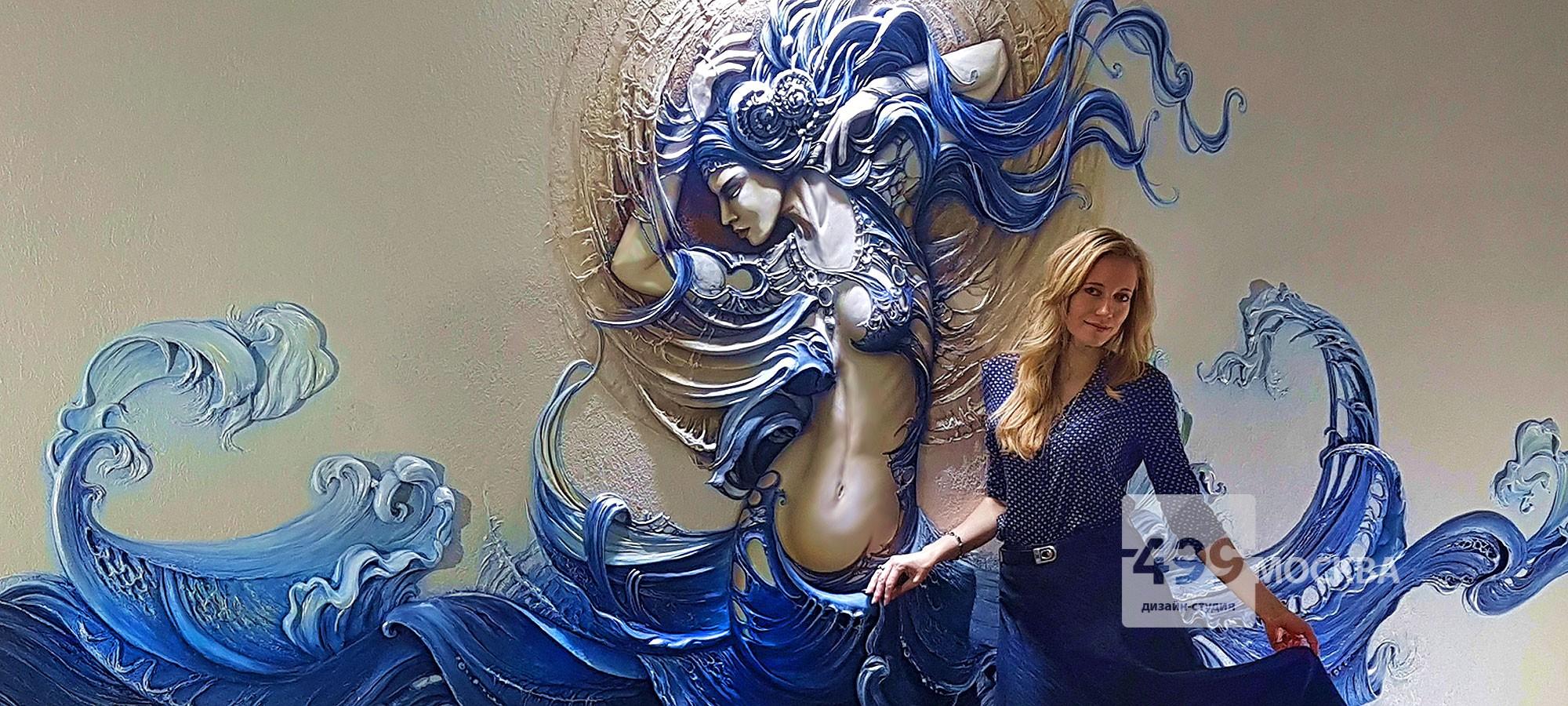 Барельеф на стене офиса нашего клиента в Москве